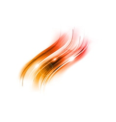 abstract wave new red vector image vector image