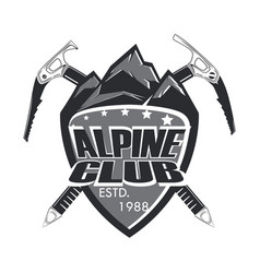 alpine club badge vector image vector image