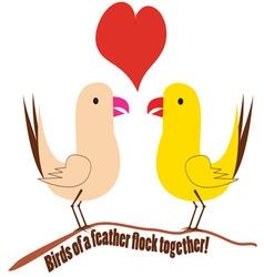 Flock Together vector image vector image