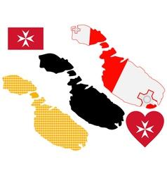 map of Malta vector image vector image