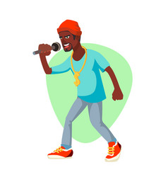 rapper man rappers style clothing vector image