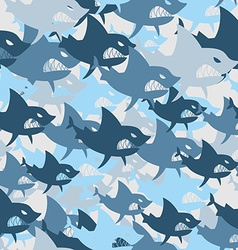 Shark military seamless pattern Army background of vector image vector image