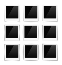 Striped Photo Frames vector image vector image
