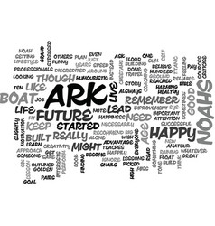 become happy learn to live like noahs ark text vector image
