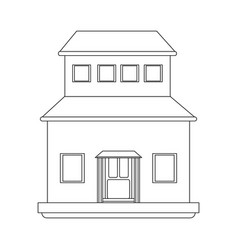 classic family house or home icon image vector image vector image