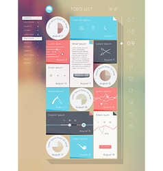 Reminder interface Flat UI design vector image vector image