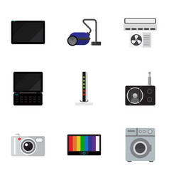 set of 9 editable home icons includes symbols vector image vector image