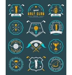 set of logos and icons golf clubs vector image vector image