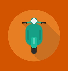 Transportation Flat Icon Scooter motorcycle vector image vector image