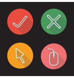 Website flat linear icons set vector image vector image
