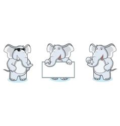 Gray Elephant Mascot happy vector image vector image