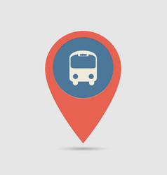 map pin bus station vector image