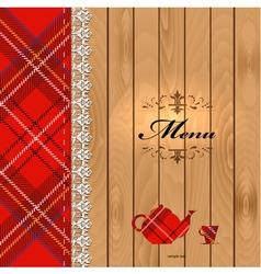 Scottish Food Menu Design vector image
