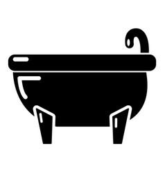 bathtub icon simple black style vector image