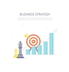 Business strategy Chess king target arrow vector image vector image