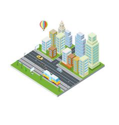 eco city design modern architecture vector image