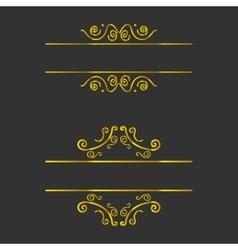 vignette frames set vector image