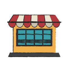 window shop sun umbrella vector image