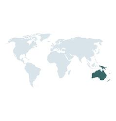 world map australia vector image
