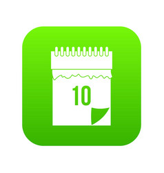 10 date calendar icon digital green vector image