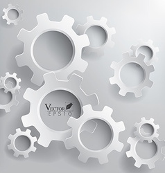 Abstract 3D Gears background vector image