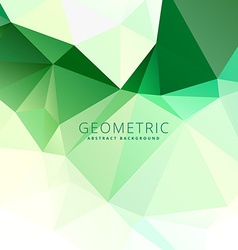 Abstract green low poly template vector