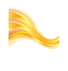 Abstract orange waves curved lines vector image