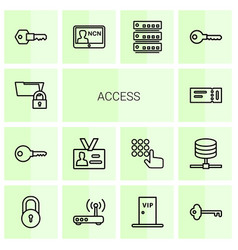 Access icons vector