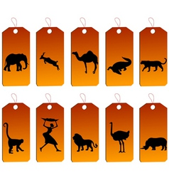 african price tags vector image