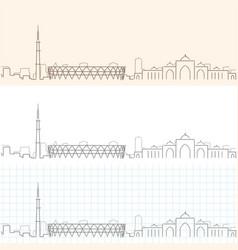 Ahmedabad hand drawn profile skyline vector