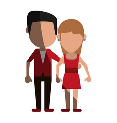 Avatars of traditional couple icon image vector