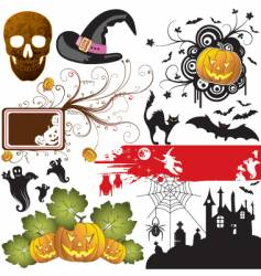 background Halloween vector image