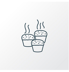 baking icon line symbol premium quality isolated vector image