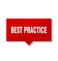 Best practice red tag vector