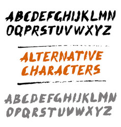 brush font uppercase letters hand written abc with vector image