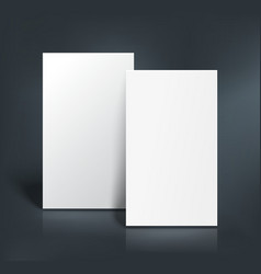 Business cards mockup vector image