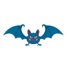 cartoon halloween bat design element for poster vector image