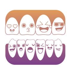 Cartoon teeth icon image vector