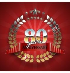 Celebration golden frame for 80th anniversary vector
