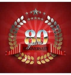 Celebrative Golden Frame for 80th Anniversary vector image
