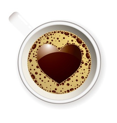 Coffee cup love heart vector image