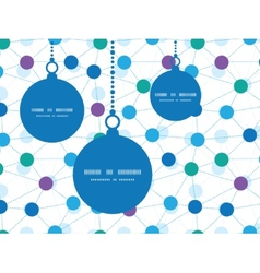 Connected dots christmas ornaments silhouettes vector