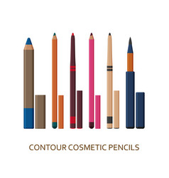 contour pencils make up background cosmetic vector image