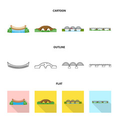design of connection and design sign set vector image