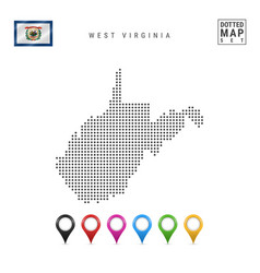 Dots pattern map west virginia stylized vector
