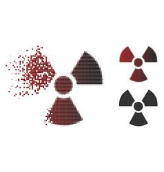 Dust dot halftone radioactivity icon vector