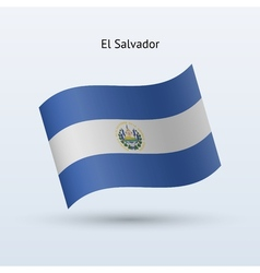 El Salvador flag waving form vector