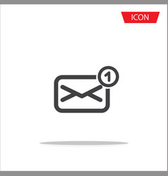email icon message icon isolated on vector image