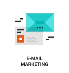 email marketing icon vector image