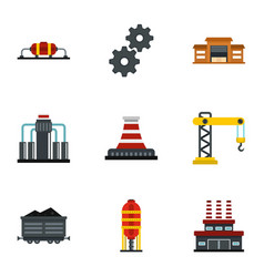 extraction and refinery facilities icons set vector image